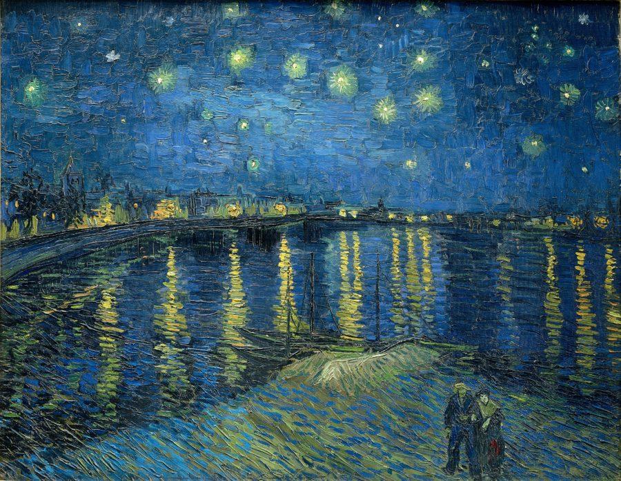 Van-Gogh: Sternennacht über der Rhône, 1888