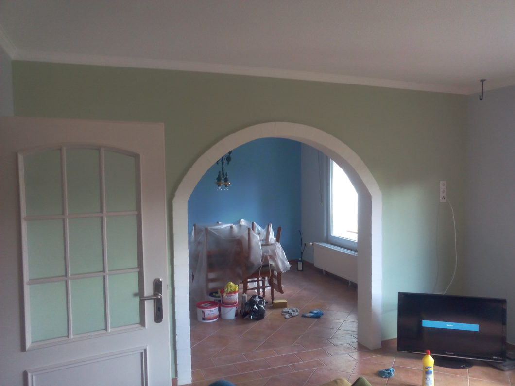Empathie In Der Raumgestaltung, Wohnzimmer Gestrichen In Grün